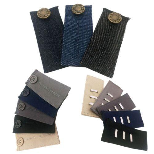 1x Waist Band Pant Extender Belt Tight Trousers Jeans Skirts Button Hooks Unisex