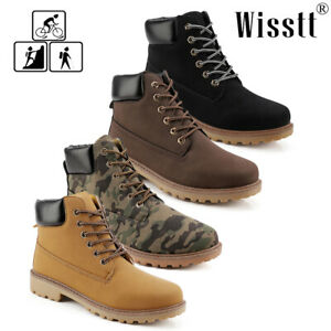 Men-039-s-Martin-Boots-Waterproof-Leather-Military-Combat-Work-Casual-Ankle-Shoes-AU