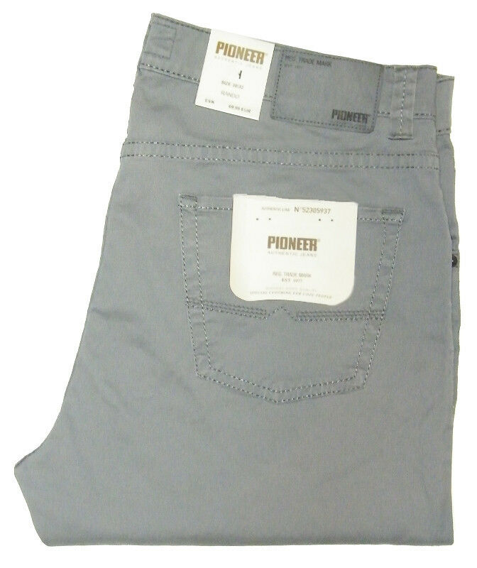 0f158638 Pioneer Men's W 38 34 or 42 32 Stretch Rando 1684 grey thin fabric 3796.124