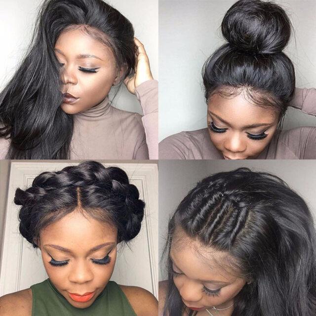 360 Lace Frontal Wig Glueless Per Plucked Brazilian Virgin Human Hair Full Wig