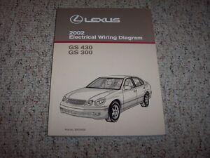 2002 lexus gs300 gs430 gs 300 430 factory electrical wiring diagram rh ebay com Lexus GS300 Turbo Kit Wide Body Lexus GS300