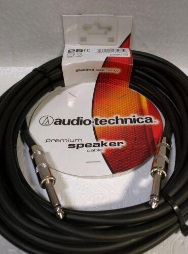 """Audio-Technica Premium 25 FT 1//4/""""-1//4/"""" Phone Plug Speaker Cable AT690-25"""