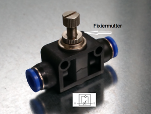 In Pneumatic Throttle Valve 8mm Connector Push