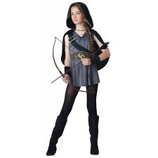 Hooded Huntress Costume Girls Tween/Kids Halloween Fancy Dress