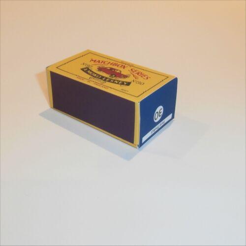 Matchbox Lesney 30 a Ford Prefect empty Repro B style Box