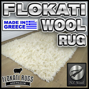Details About Flokati Wool Rug Natural Made In Greece Shag Greek Large Area New