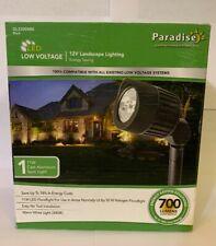 9 9 Sterno Home GL33008BK Paradise Low-Voltage Cast Aluminum LED Black Spot Light