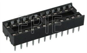 Lot-4-24-Pin-IC-Narrow-DIP-Socket-2200-6858