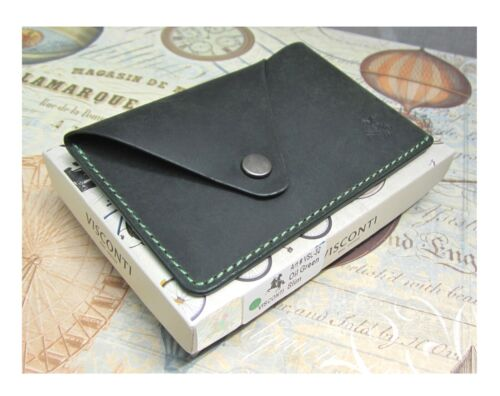 Leather Business Cards Holder Visconti Slim Collection New in Gift Box VSL32