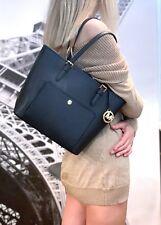 b1155453f889 item 5 Michael Kors Jet Set Item Medium Snap Pocket Tote Top Zip Leather Bag  Black -Michael Kors Jet Set Item Medium Snap Pocket Tote Top Zip Leather Bag  ...