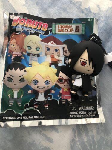 NeW Figural BORUTO Naruto Next Generation Bag Clip SASUKE Keychain