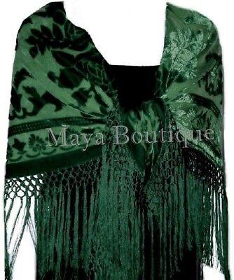 Velvet Fringe Blanket Scarf