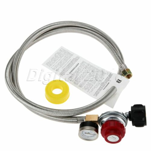 0-30 PSI High Pressure Adjustable Propane Regulator w// Gauge Kit QCC1 Connector