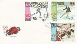 Kampuchea-1987-Calgary-Winter-Olympic-Games-FDC-unadressed-VGC