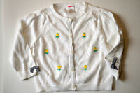 Gymboree PREP CLUB White Cardigan Sweater 2T