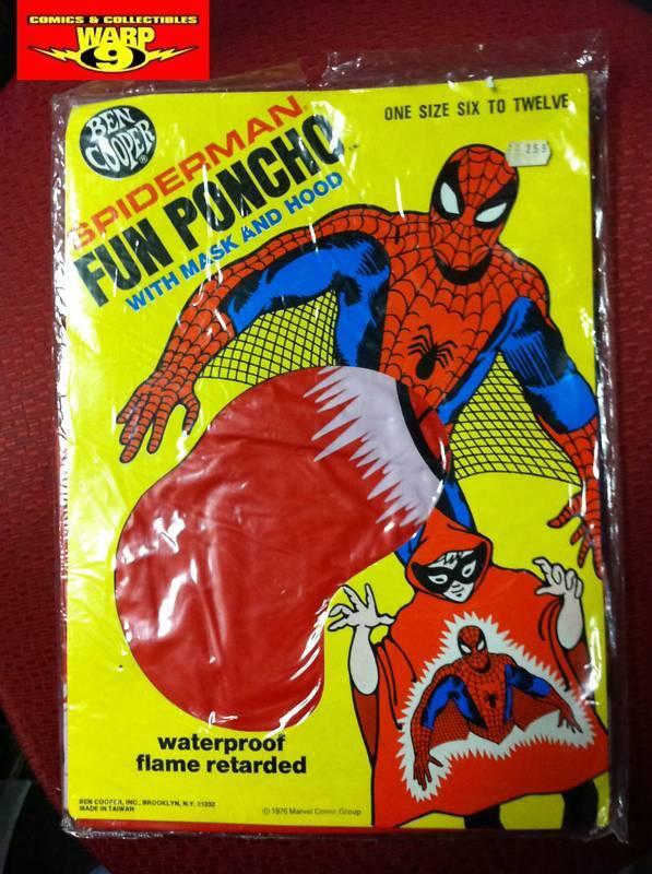 SEALED BEN COOPER SPIDER-MAN PONCHO W/MASK  MARVELMANIA