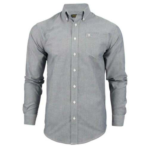 Mens Shirt Farah Drayton Long /& Short Sleeve Collared Oxford Cotton Casual Top