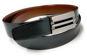 Cinturon de Piel Reversible Color Negro y Marron (95, 105, 115 CMS.)