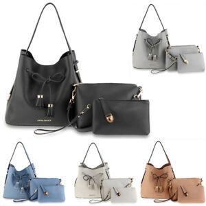 128931f97b08 Details about 3 Pieces Handbag Set For Women Fashion Ladies Shoulder Bag  Faux Leather Designer