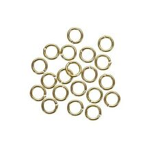 Small Jump Rings 4mm Gold Plated Brass 0.7mm Thick Pack of 20 (G96/17)