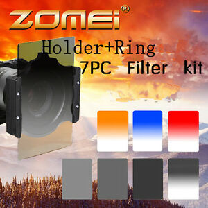 Zomei-9-in1-ND2-4-8-Gradual-blue-Red-Filter-Kit-Holder-72mm-Ring-for-Cokin-Z