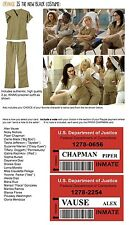 2 KHAKI Orange is the New Black WOMENS 2 pc PRISON COSTUME Halloween U PIC SIZE