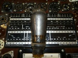 Roehre-Telefunken-AL4-Tube-22mA-Valve-auf-Funke-W19-geprueft-BL-1791