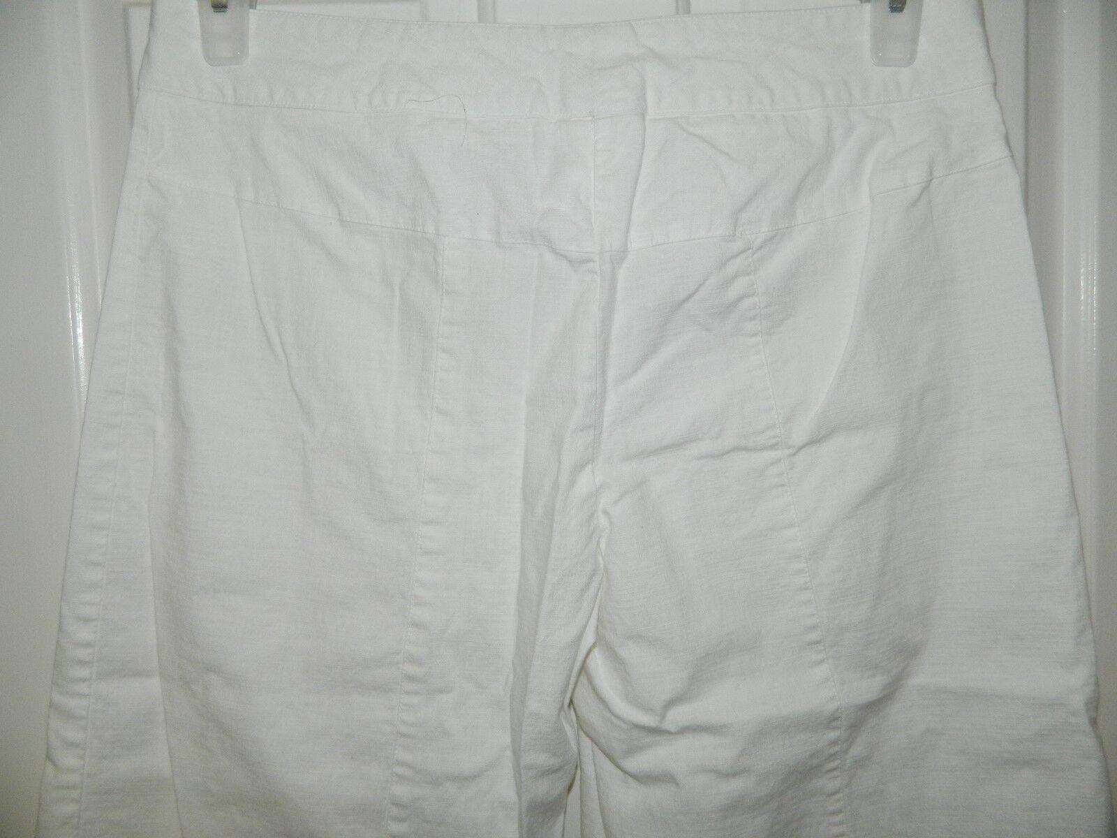 HEART SOUL womens juniors WHITE Cotton WIDE LEG C… - image 4