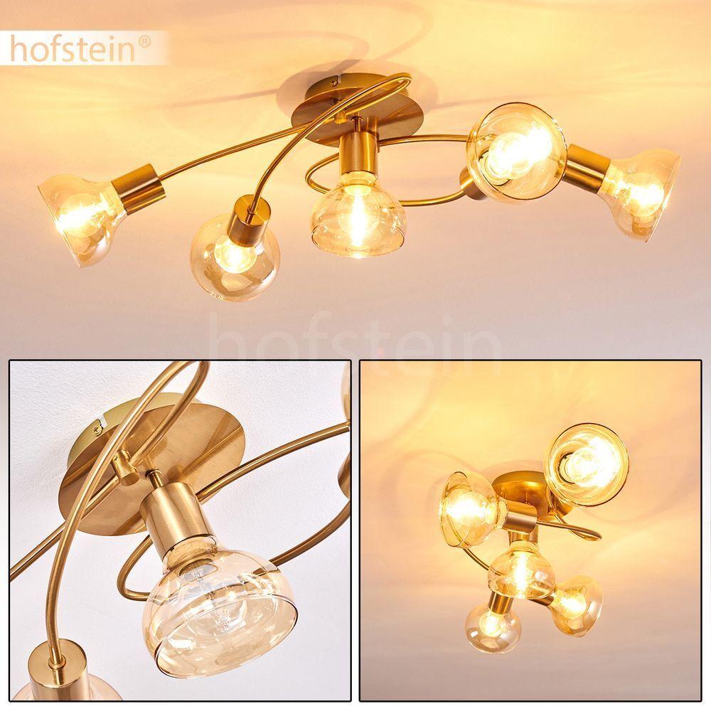 vendita outlet Plafoniera in vetro 5-bruciatori salotto sonno lampada stanza colorei oro oro oro faretti corridoio  edizione limitata a caldo