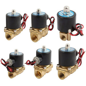 ELECTRIC-SOLENOID-VALVE-AIR-WATER-OIL-BRASS-NORMALLY-CLOSED-2-WAY-12V-24V-220V