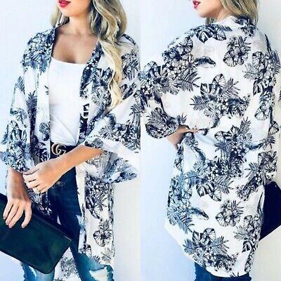 XL NWT Boutique Boho Black Eyelet Lace Kimono Maxi Duster Jacket Top X-LARGE