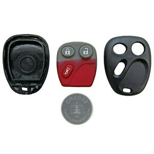 Chevy-Case-Remote-Keyless-Entry-Key-Fob-FCC-LHJ011-3-Button-CR2032-Battery