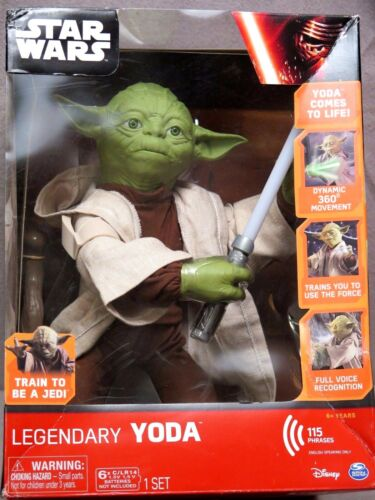 "Star Wars Legendary Yoda Train To Be A Jedi 16/"" Interactive Figure NEW IN BOX"