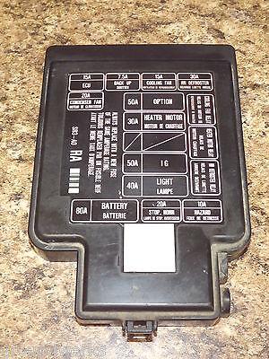 92-95 OEM USDM Honda Civic SR3 EG EG6 EG9 EJ1 engine bay fuse box lid cover  | eBay eBay