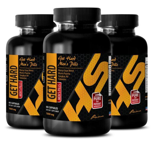 Testosterone booster for men muscle growth - GET HARD PILLS - maca pills - 3 Bot eBay