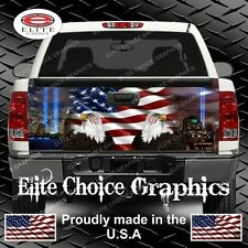 911 Tribute American Flag Eagle Truck  Tailgate Wrap Vinyl Graphic Decal Wrap