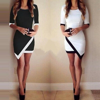 Hot Women's Bodycon Clothing Asymmetric Evening Party Cocktail Sexy Mini Dress