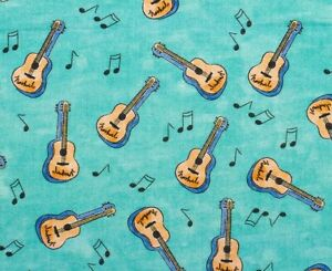 FAT-QUARTER-FABRIC-GUITAR-NOTES-NASHVILLE-TENNESSEE-COUNTRY-MUSIC-CITY-COTTON-FQ