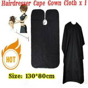 Adult Salon Hair Cut Hairdressing Barbers Cape Black Gown Clothes Protector Ebay