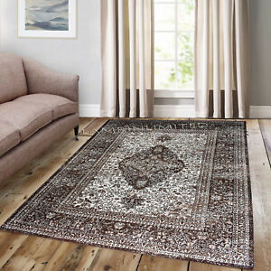 Details About Traditional Vintage Style Persian Rug Design Oriental Faded Beige Brown Carpet