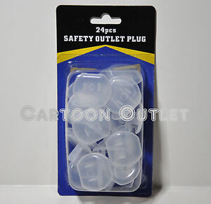 24 pcs safety outlet plugs protector covers baby proof electric shock guard kids ebay. Black Bedroom Furniture Sets. Home Design Ideas