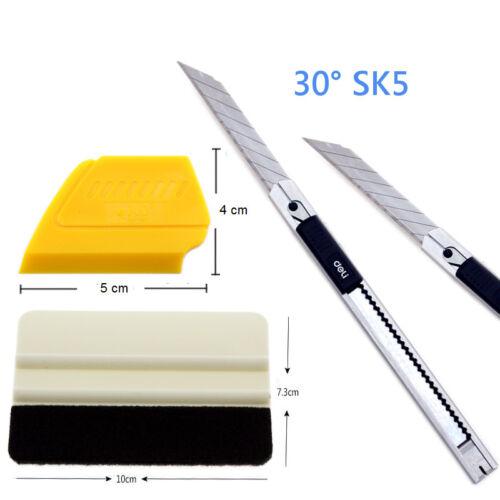 1x mini Rakel Set i46F 30 Grad Metal Profi Cuttermesser 1x Soft Rakel filz