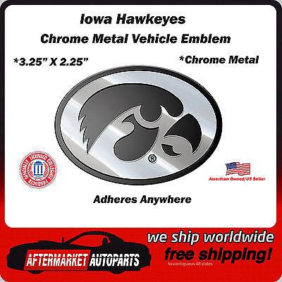SLS FANMats Kansas Jayhawks Premium Solid Metal Color Chrome Raised Auto Emblem Decal University of