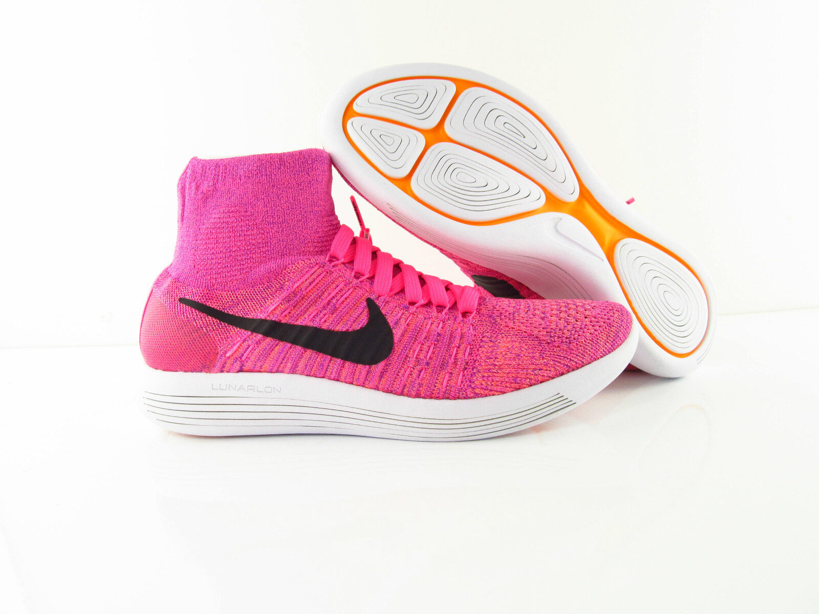 Nike Wmns Lunarepic Flyknit New Pink Pow Rosa Running New Flyknit US_8.5 UK_6 Eur 40 3a5023