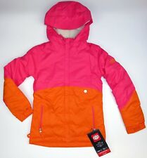 dae4a26a8c19  130 Youth Girls 686 Wendy Pink-Coral Insulated Winter Sports Ski Jacket  Large