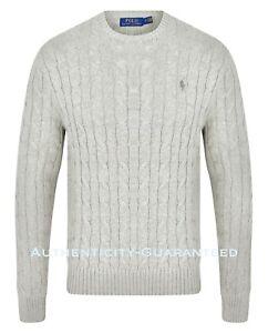 Ralph Lauren Polo Men's Crew Neck Cotton Knit Jumper Navy S-XXL RRP £110 SALE Sweaters