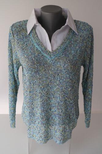 Damen Strick Pullover Capuccino Knithouse Musterteile Größe 38 # B 021719