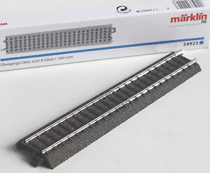 Maerklin-H0-24922-C-Gleis-Ubergang-zum-K-Gleis