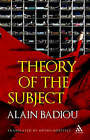 Theory of the Subject by Alain Badiou (Hardback, 2009)