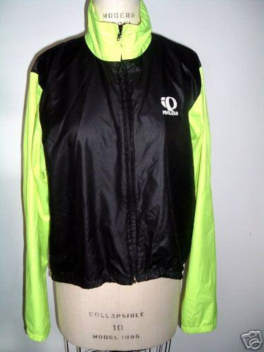 PEARL IZUMI TECHNICAL WEAR BLACK LIME CYCLING TRACK JACKET S